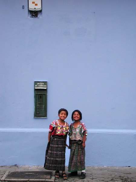 Two Mayan girls